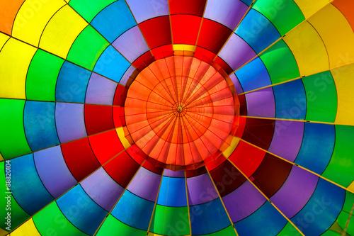 Keuken foto achterwand Ballon Colorful hot air balloon from inside.