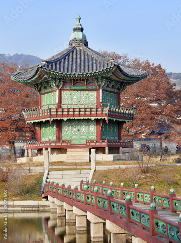 Stampe  Pagoda in Gyeongbokgung Palace in Seoul, Korea