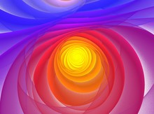 Colorful Fractal Spiral On White Background