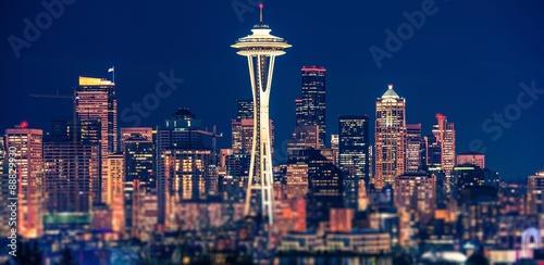 Seattle Night Panoramic © Tomasz Zajda