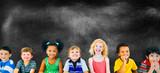 Diversity Children Friendship Innocence Smiling Concept
