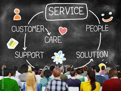 Fotografía  Customer Satisfaction Service Hospitality Support Concept