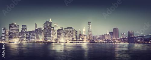 Photo  New York City Panorama Night Concept
