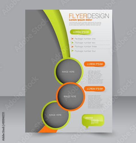 flyer template business brochure editable a4 poster for design education presentation. Black Bedroom Furniture Sets. Home Design Ideas