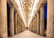 Colonnade At Night