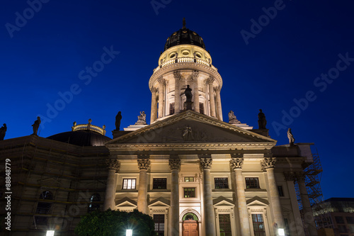 Fotobehang Volle maan the german cathedral at the gendarmenmarkt in berlin germany at