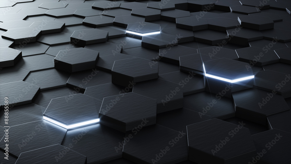 Fototapety, obrazy: Technical 3D hexagonal background design