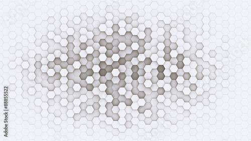 3d hexagonal background design structure