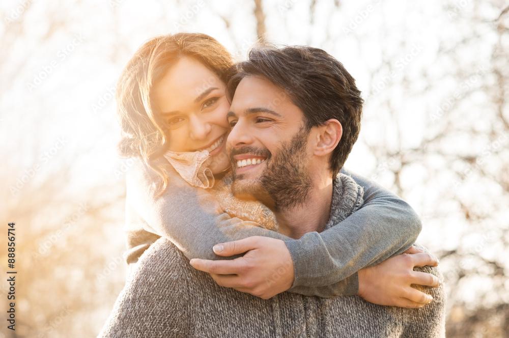 Fototapeta Couple piggyback