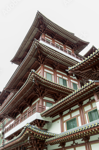 Photo  Buddha Tooth Relic Temple in China Town Singapore