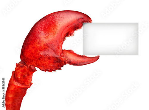 Foto op Plexiglas Schaaldieren Lobster Claw Sign