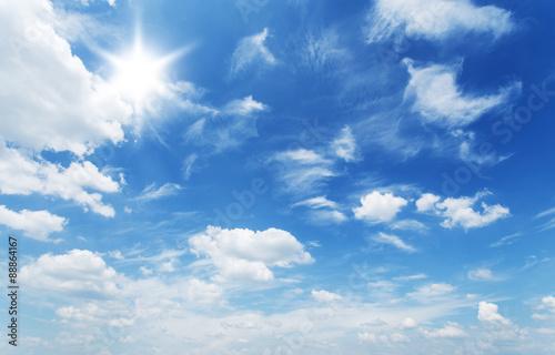 Fototapeta niebo slonce-na-niebie