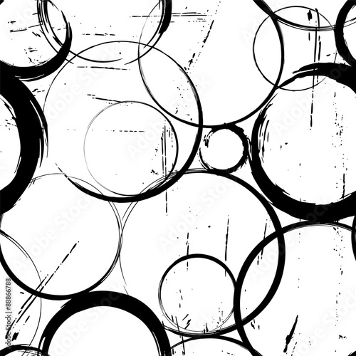seamless background pattern, with circles, strokes and splashes,