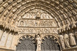 Entrance of the christian gothic cathedral of Bourges, France