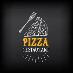 Obraz na Szkle Do pizzerii Pizza menu restaurant badges. Food design template.