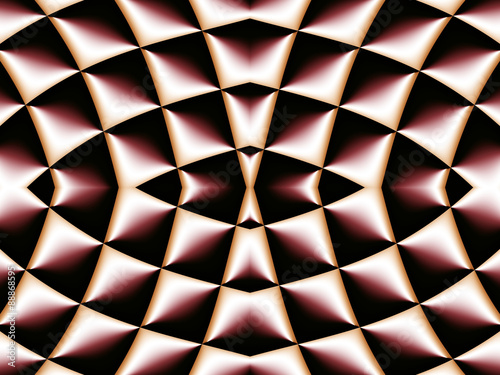 Foto op Plexiglas Fractal waves Symmetrical fractal pattern. Collection - cells. Artwork for cre