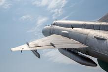 Detail Of Old Jet Fighter, Flying