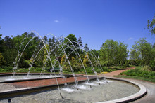 Arch Water Fountain At Daniel Stowe Gardens In Belmont, NC