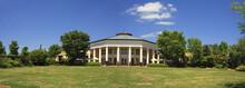 Panorama Of Daniel Stowe Garden Pavilion In Belmont, NC