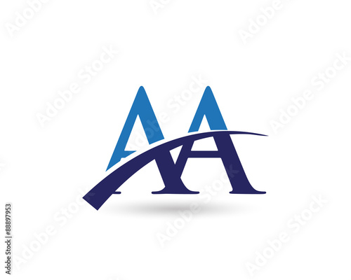 Aa Logo Letter Swoosh Buy This Stock Vector And Explore
