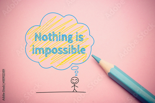 Nothing is impossible Canvas Print