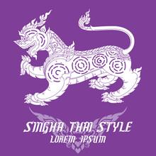 Thai Art Lion Or Sigha. Detail...