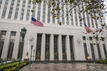 United States Court House In Los Angeles On A Rainy Day