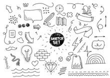 Sketch Set. Hand Drawn Elements.