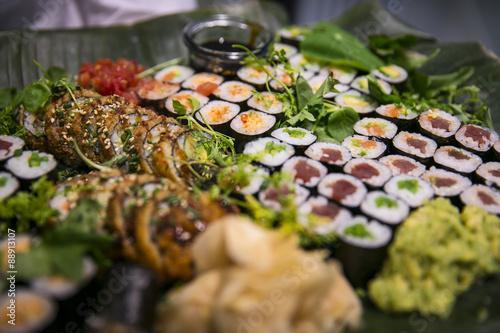 Fotografie, Tablou  Sushi auf Buffet / Catering