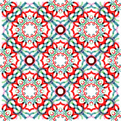 Seamless vector geometric abstract pattern. Creative round