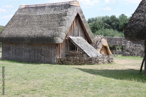 Anglo-saxon village Canvas Print