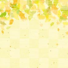 銀杏 秋の背景 和紙風