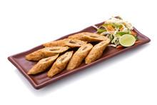 Indian Seekh Kebab Chicken Served With Salad
