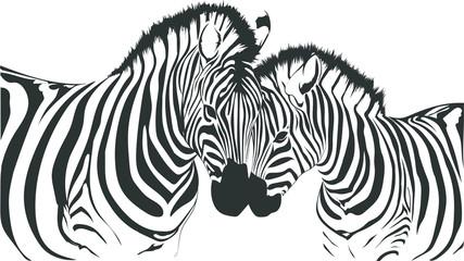 Panel Szklany Podświetlane Zebry zebre