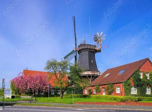 Aluminium Prints Mills Esens Windmuehle - windmill Esens 01