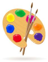 Palette For Paints And Brush V...