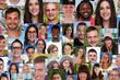 Hintergrund Collage junge Leute Menschen Gruppe soziale Netzwerk