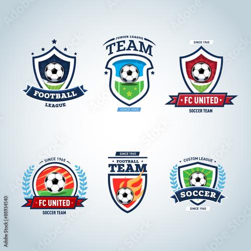 Soccer Logo. Football Logo. Set Of Soccer Football Crests And Logo Template  Emblem Designs