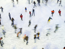 Aerial View Of Ice Skating