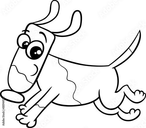 Tuinposter running dog coloring book