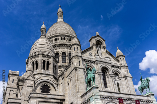 Photo  Detail of Basilica Sacre Coeur (1914), Paris, France.