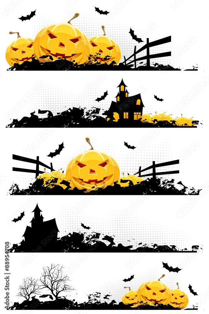 Leinwandbild Motiv - WaD : Grunge Halloween Banner