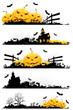 Leinwandbild Motiv Grunge Halloween Banner