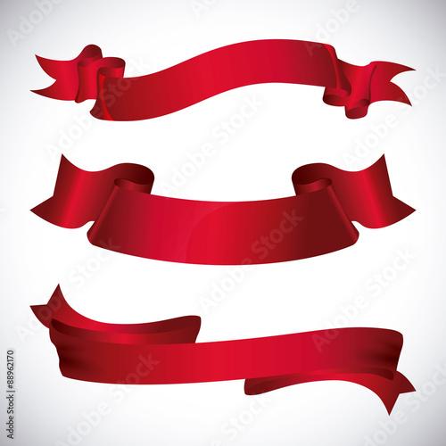 Fotografie, Obraz  Decorative ribbon design.