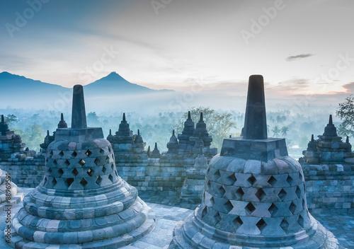 Foto op Aluminium Indonesië Sunrise at Borobudur Temple, Yogyakarta, Java, Indonesia..