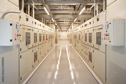 Fotografie, Obraz  Switchgear in the electrical room.