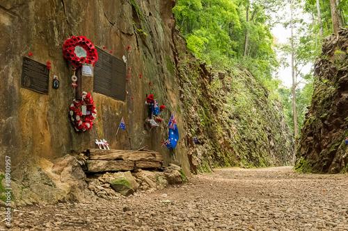 Photo  Hellfire Pass at Kanchanaburi, Thailand.