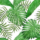 tropical leaves seamless pattern - 88986198