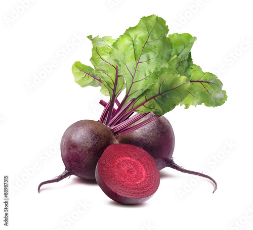Fototapeta  Beet root square isolated on white background