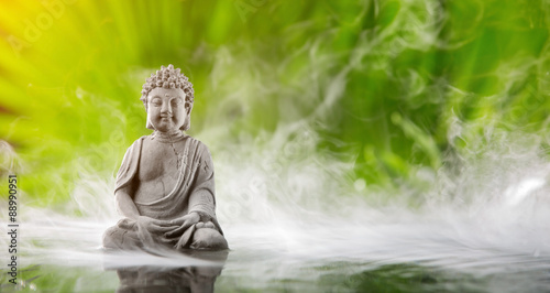 Photo  Buddha in meditation